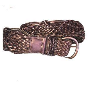 Accessories - Leather boho festival braided belt